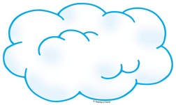 cloud clipart outline