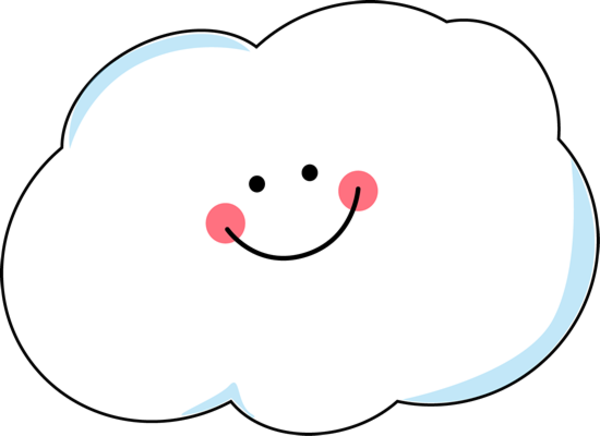 Clip Art Smiling Cloud Clipart #1