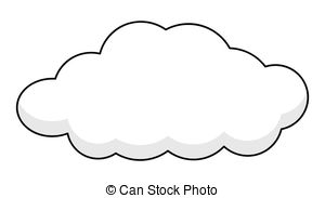 . ClipartLook.com Retro Cloud Banner - Abstract Retro Comic Fluffy Cloud Frame.