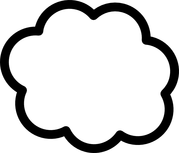 Cloud No Outline Clip Art. Download this image as: