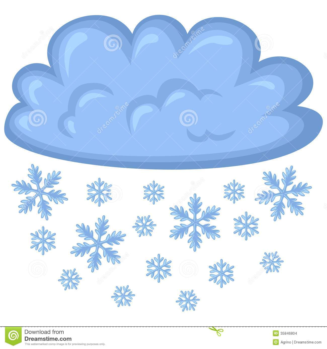 Cloud Of Snow Stock Images Image 35846804