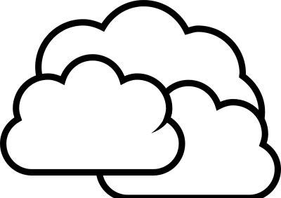 Clouds Clipart Black And White .