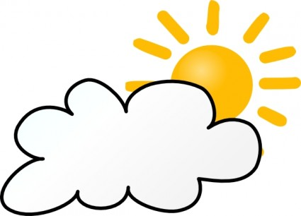 Cloudy Weather Clip Art Vector Clip Art -Cloudy Weather clip art Vector clip art - Free vector for free-6