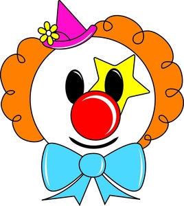 Clown Face Clipart Image Circus Clown Face