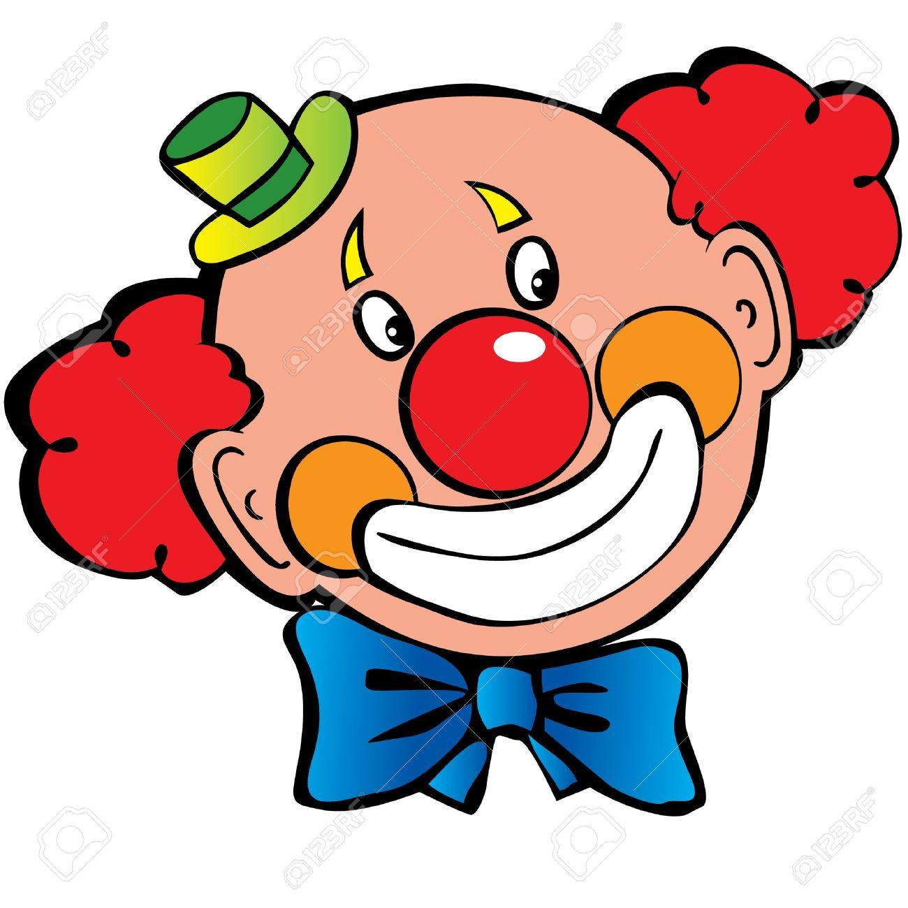 clowns: Happy clown art-illustration on -clowns: Happy clown art-illustration on a white background-10