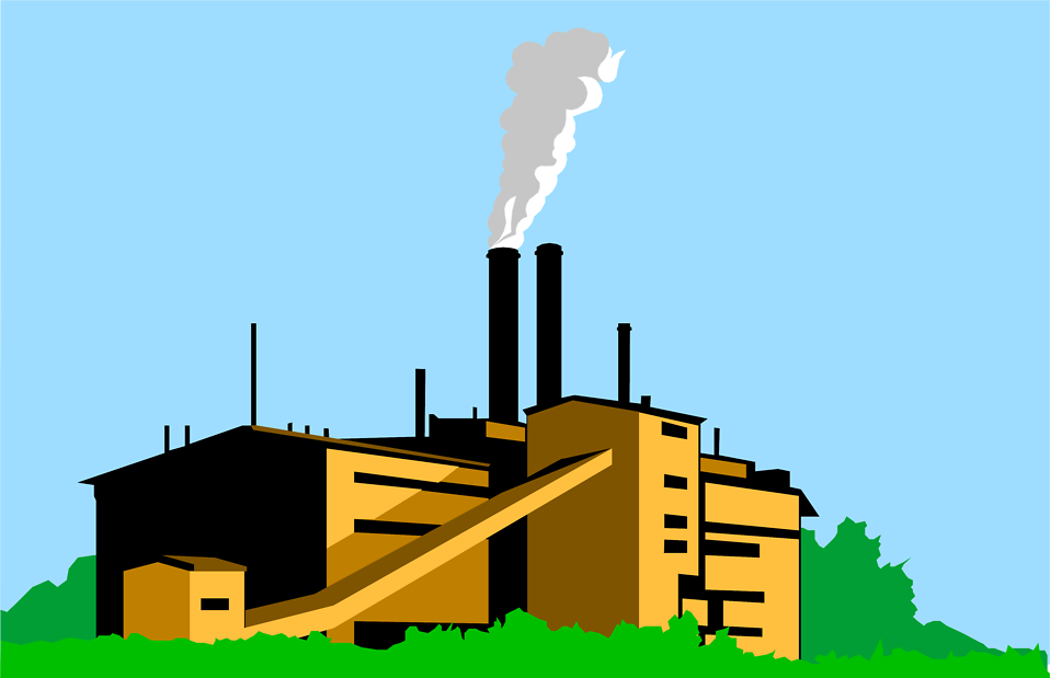 Coal Factory Clipart