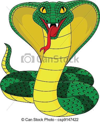 Cobra Clip Artby Dagadu21/11,299; Angry -Cobra Clip Artby dagadu21/11,299; angry cobra snake - Vector illustration of angry cobra snake-8