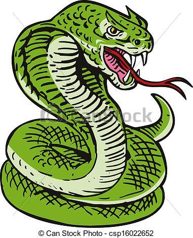 ... Cobra Viper Snake - Illustration of a cobra viper snake.