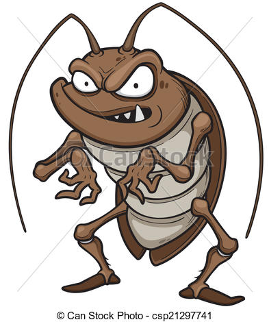 ... Cockroach - Vector illustration of cartoon cockroach