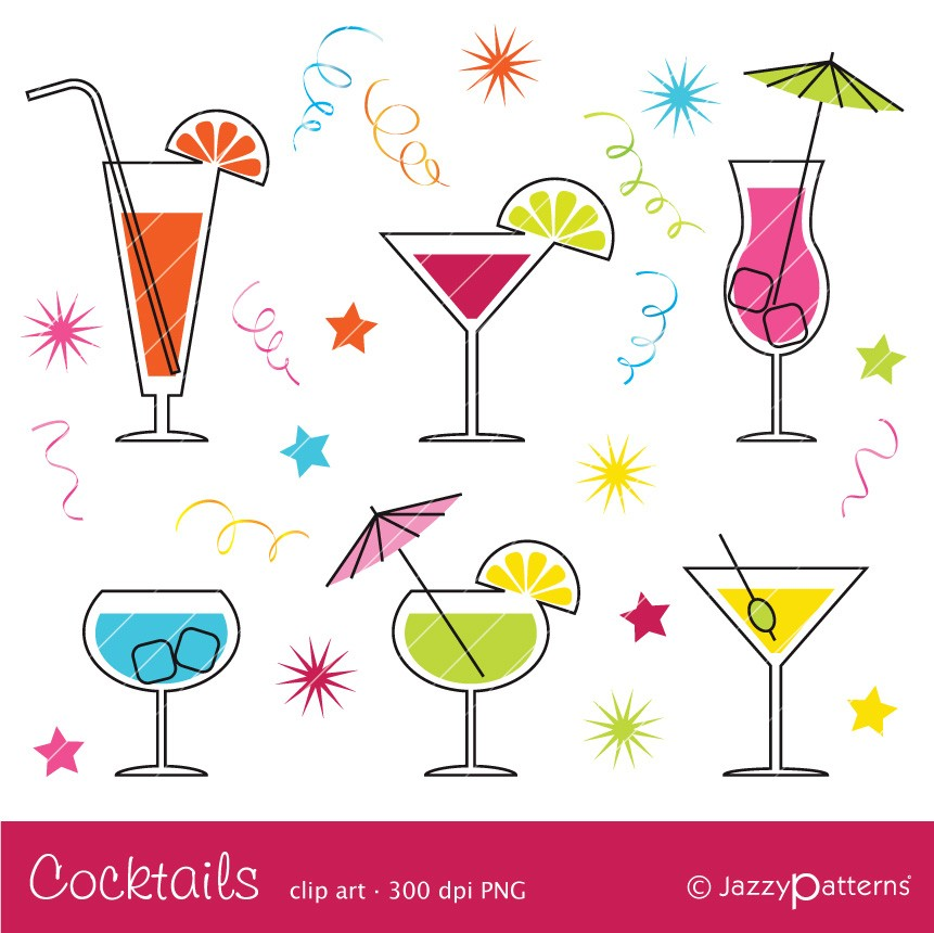 Cocktail clipart CA017 instan - Cocktails Clipart