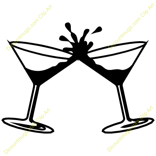 Cocktail Wedding Clipart .