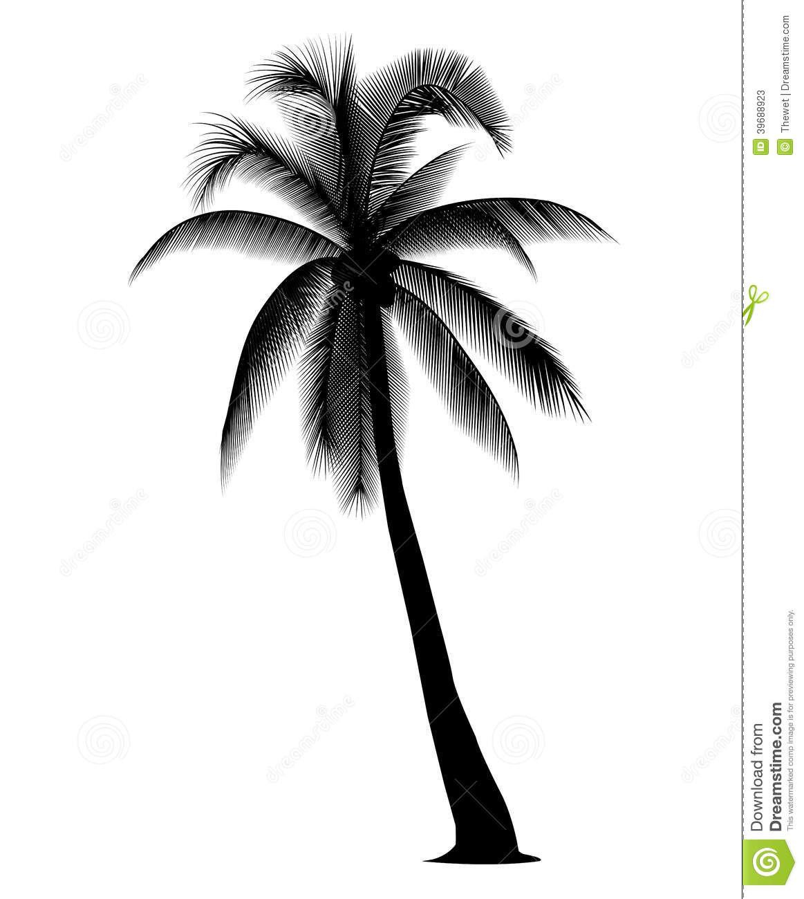Coconut Tree Silhouette .