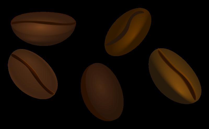 Coffee Bean Clipart Black And - Coffee Bean Clipart