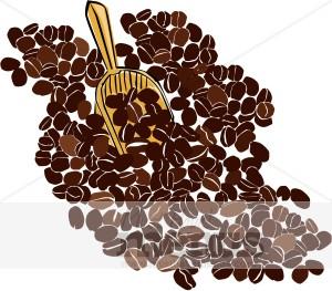 Coffee Bean Scoop Clipart