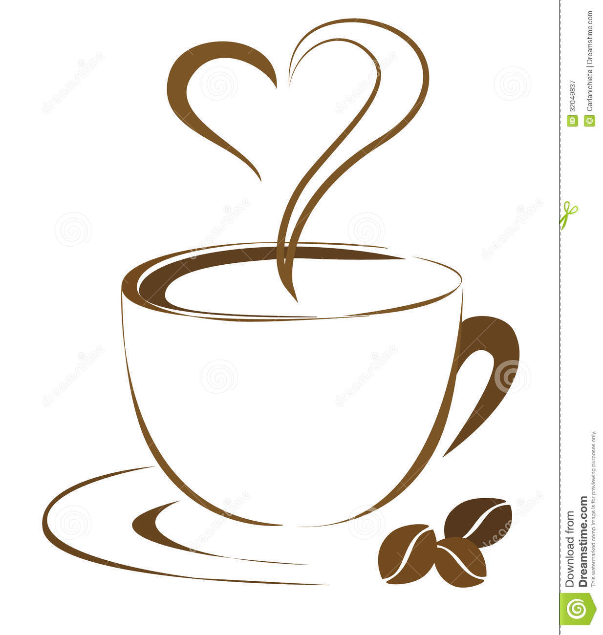 Coffee Heart Royalty Free Stock Photogra-Coffee Heart Royalty Free Stock Photography Image 32049837-17