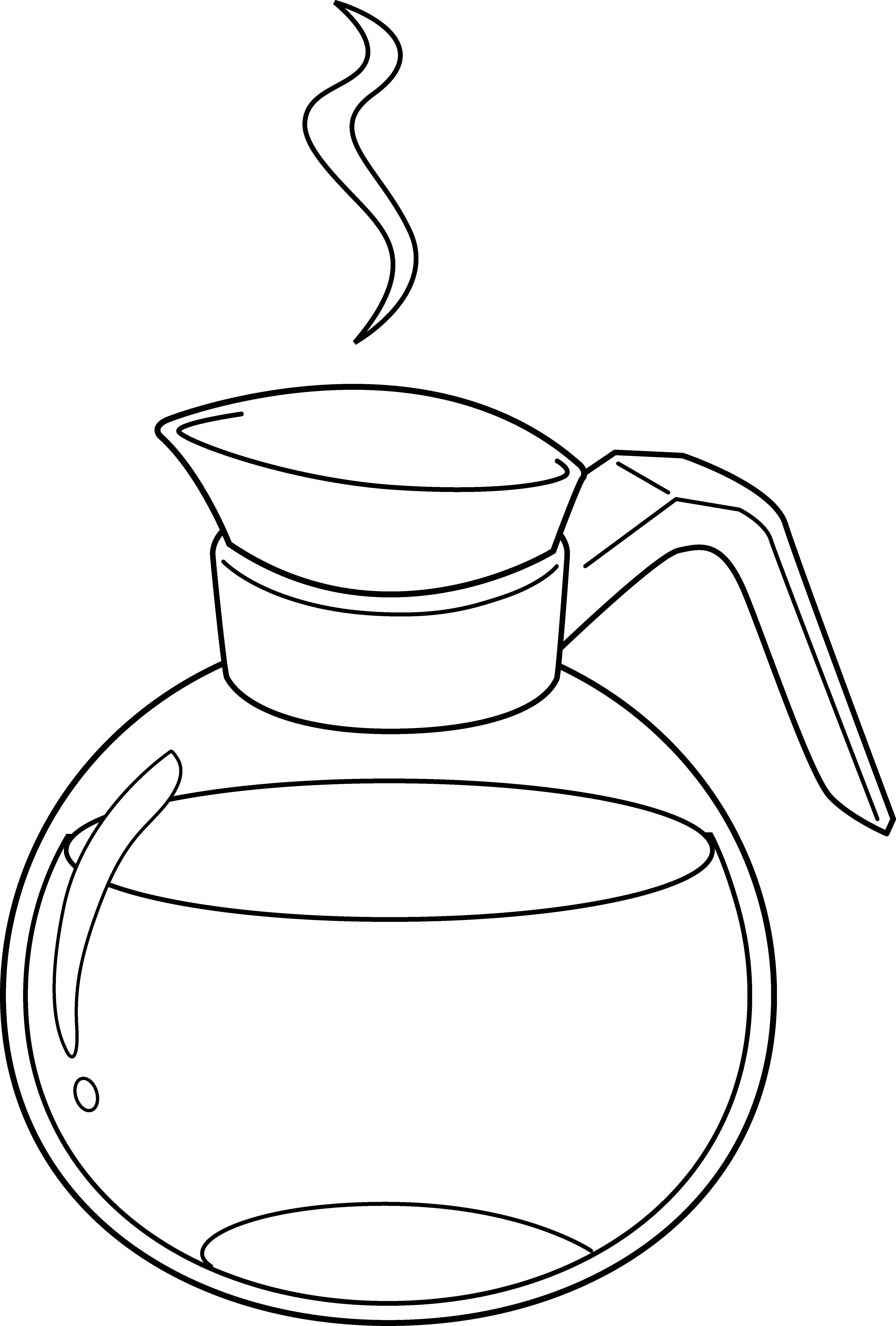 Coffee Pot Line Art - Free .-Coffee Pot Line Art - Free .-13