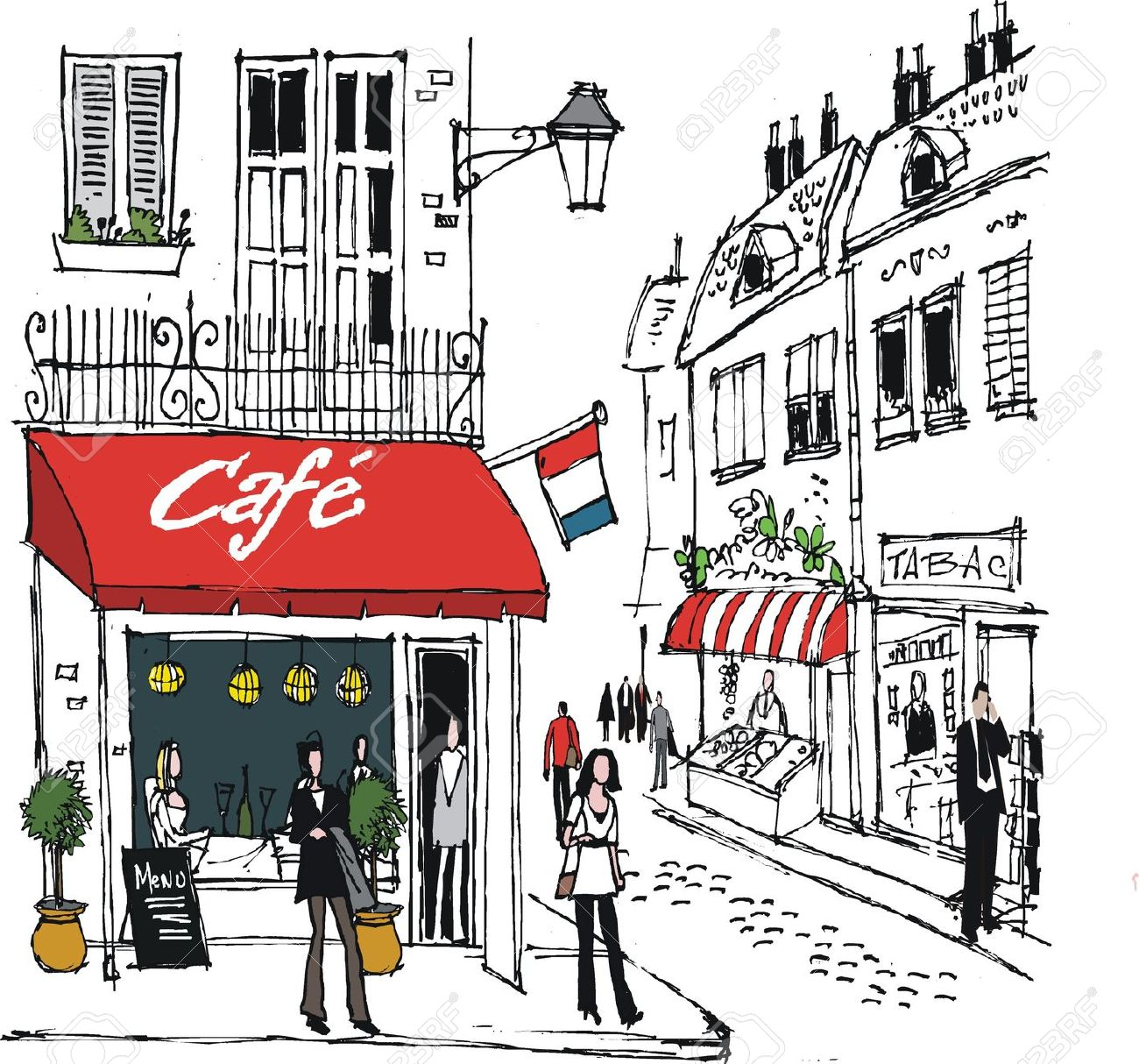 Coffee Shop Clip Art. Cafe cliparts