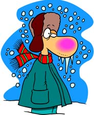 Cold Weather Clip Art. Cold Man