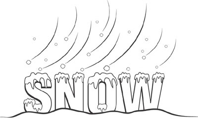 Cold Winter Day Clip Art - Snowstorm Clipart
