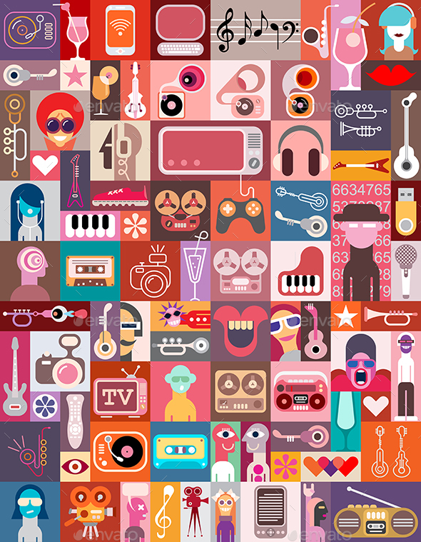 Clip Art Collage - Vectors - Collage Clipart