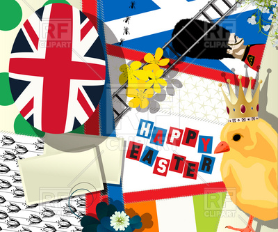 Easter holiday collage with british symbolics, 12600, download royalty-free  vector vector image ClipartLook.com