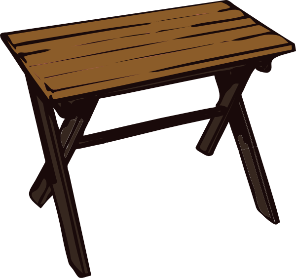 Collapsible Wooden Table Clip Art At Clk-Collapsible Wooden Table Clip Art At Clker Com Vector Clip Art-4