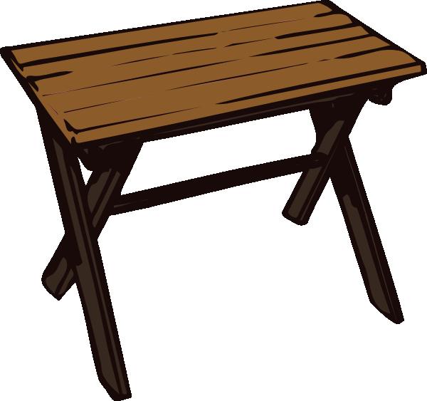 Collapsible Wooden Table Clip Art At Clker Com Vector Clip Art