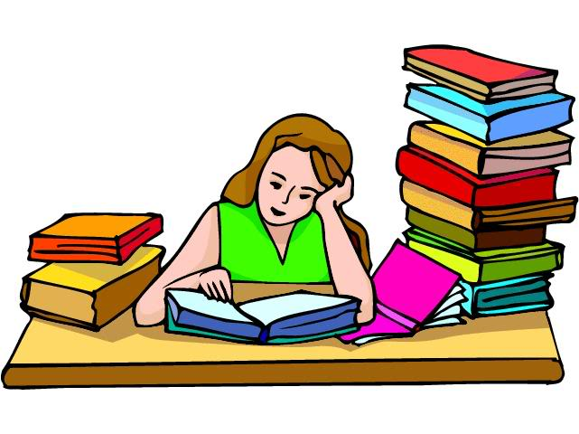 college student studying clipart