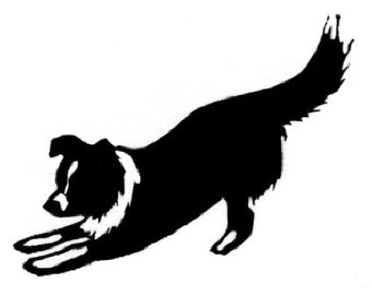 Collie Clipart Clipart Panda . Popular items for working dog .