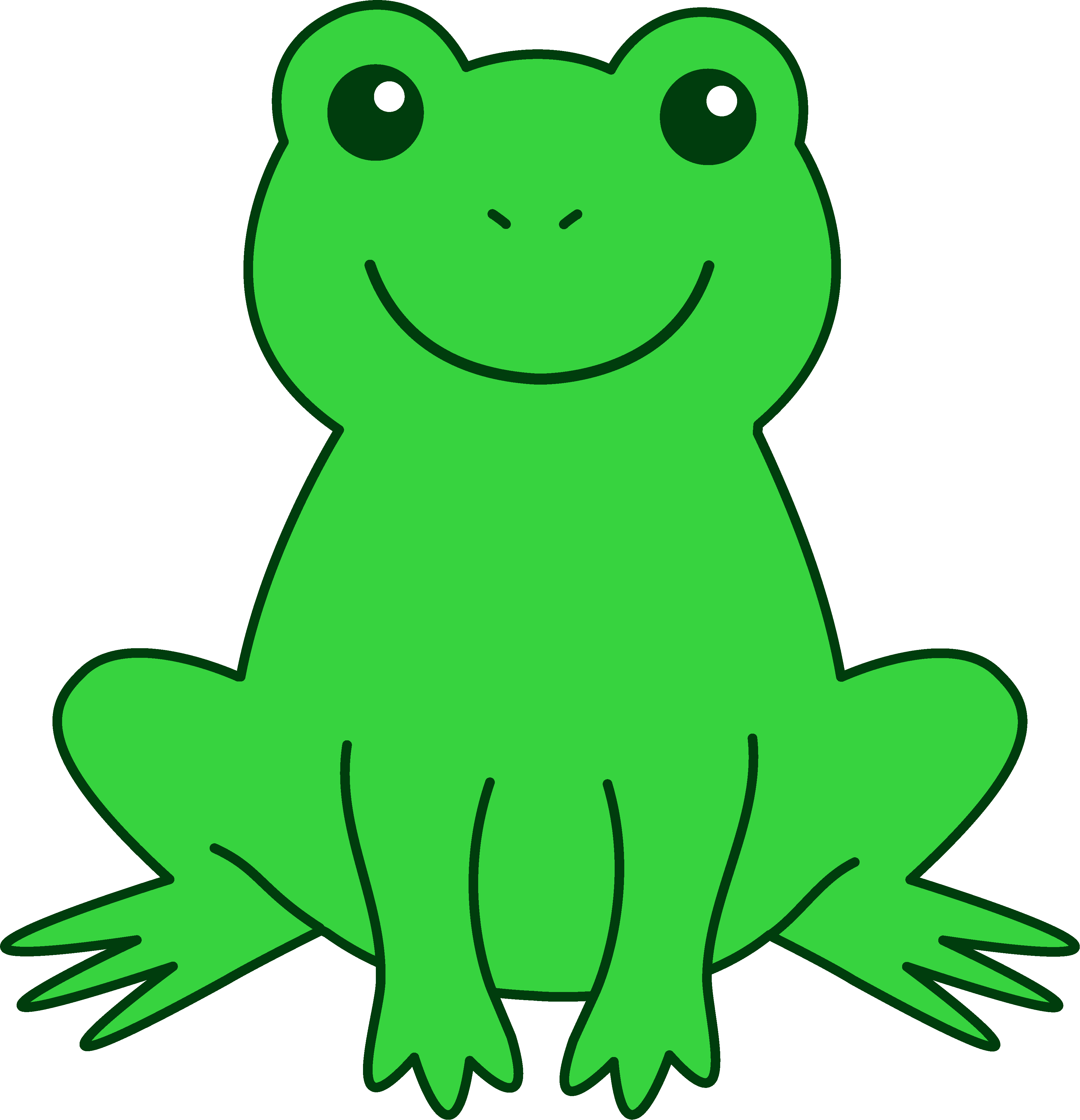 Color green clipart kid