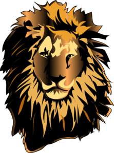 Color lion head clipart - .