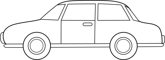 Colorable Car Line Art Free Clip Art u0026middot; Black And White .