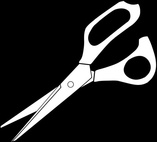 Colorable Scissors Line Art Free Clip Ar-Colorable scissors line art free clip art-1