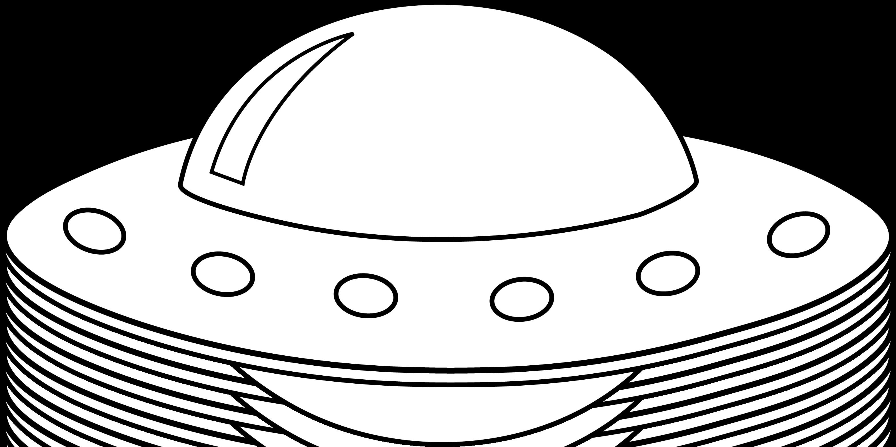 Colorable ufo line art free clip clipart