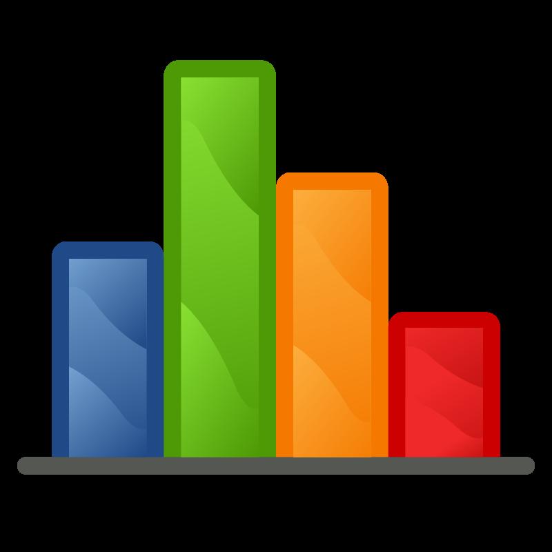 Colored Bar Graph Clip Art .