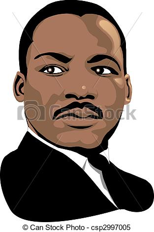 Colored Luther Rose Woodcut Clip Artby PeterHermesFurian9/308; Martin Luther King - Vector Martin Luther King for black.