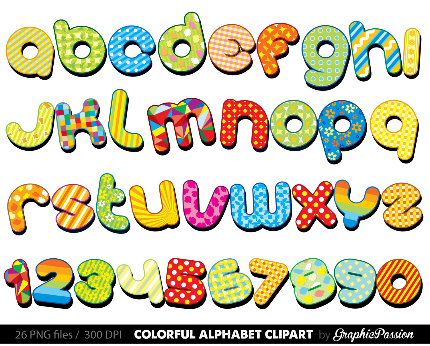 Colorful Alphabet Clipart .-Colorful Alphabet clipart .-16