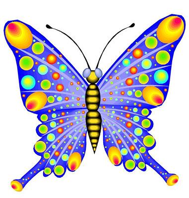 Colorful butterflies clipart clipartfox 5