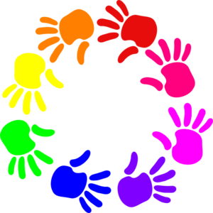 Colorful Circle Of Hands Clip Art-Colorful Circle Of Hands Clip Art-1