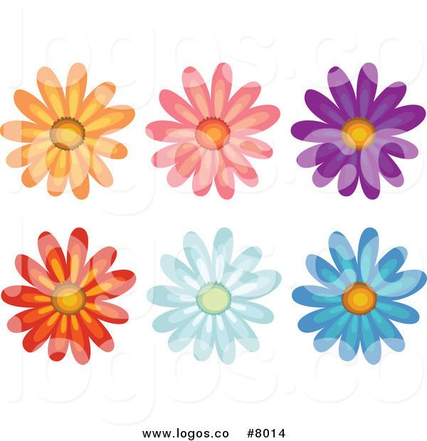 Colorful Daisy Flower Clip Art-Colorful Daisy Flower Clip Art-3
