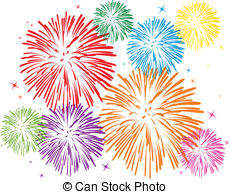 Colorful Fireworks - Vector Colorful Fir-colorful fireworks - vector colorful fireworks on white... colorful fireworks Clipartby ...-5