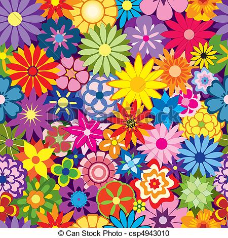 ... Colorful Flower Background - Colorfu-... Colorful Flower Background - Colorful Seamless Repeating.-17