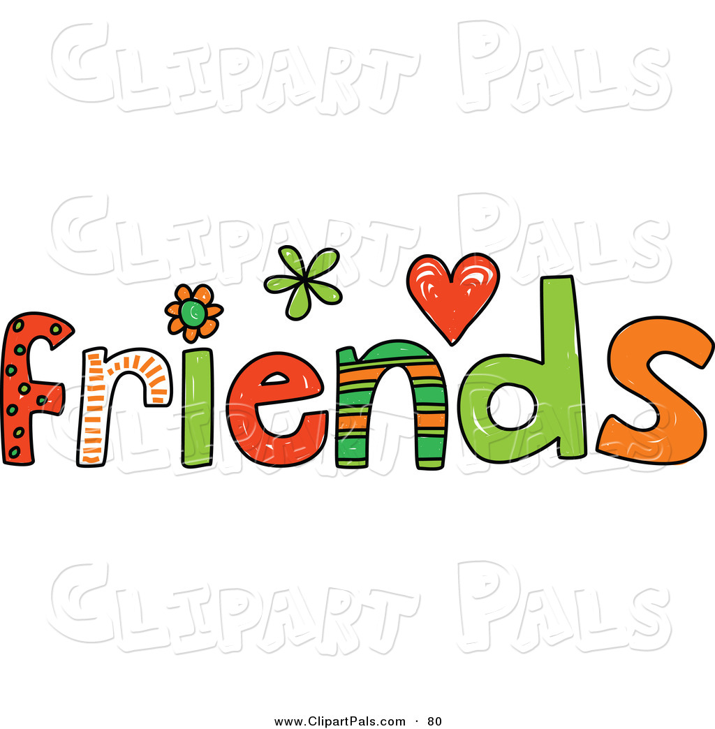 Colorful Friends Word On White Friend Cl-Colorful Friends Word On White Friend Clip Art Prawny-16