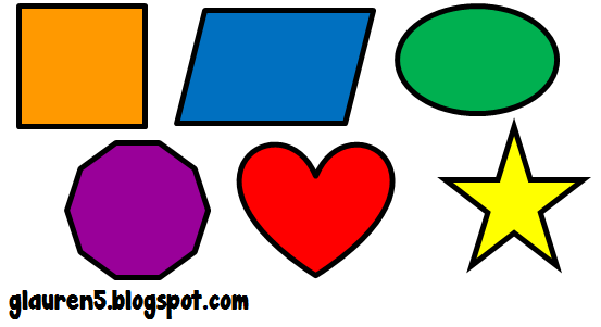 Colorful Geometric Shapes Clipart - Free Clip Art Images