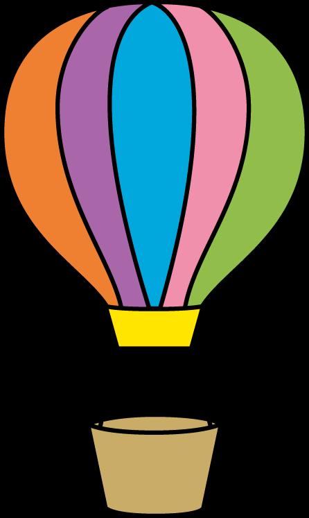 Colorful Hot Air Balloon - Hot Air Balloon Clip Art