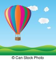 ... Colorful hot air balloon  - Hot Air Balloon Images Clip Art
