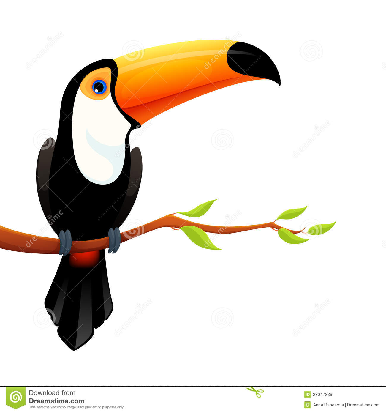 Colorful Illustration Of A Cute Toucan Royalty Free Stock Images