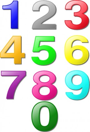 Colorful Numbers Clip Art Vector Clip Art Free Vector For Free