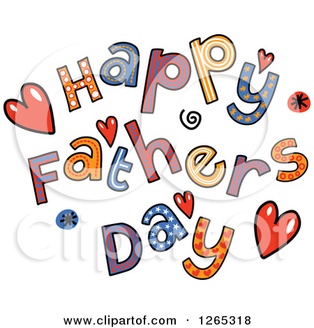 Colorful Sketched Happy Fathers Day Text-Colorful Sketched Happy Fathers Day Text by Prawny-2