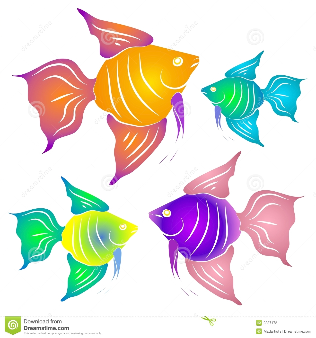 Colorful Tropical Fish Clipart-Colorful Tropical Fish Clipart-5